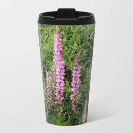 Blue and Pink Through a Glass Darkly Travel Mug
