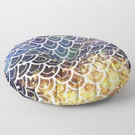Mermaid Scales Deep Sea Sparkle Floor Pillow