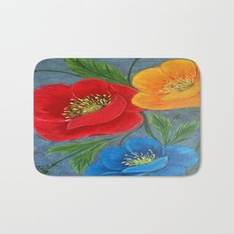 Poppies-3 Bath Mat