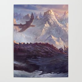 Phenomenal Armored Knights Riding Flying Dragons Ancient Kingdom Ultra HD Poster