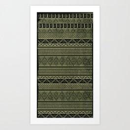 Harry Tribal Print Potter - Hallows Yellow Art Print