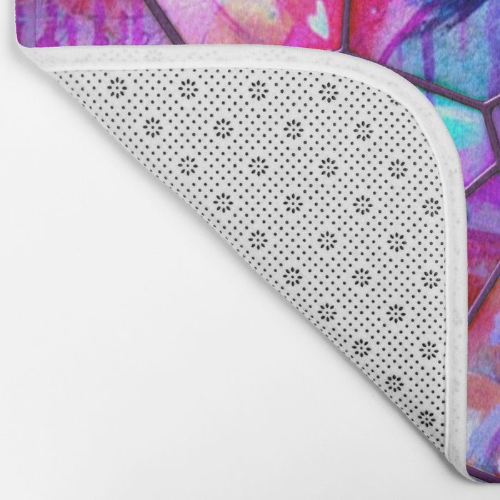 Painted Stained Glass Bath Mat