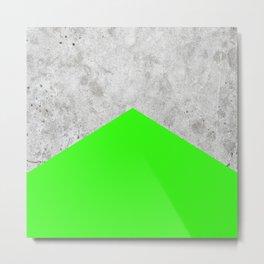 Concrete Arrow - Neon Green #394 Metal Print