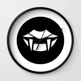 Halloween Fangs Ideology Wall Clock