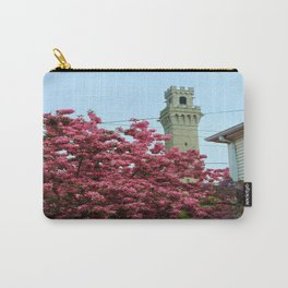 Pilgrim Monument with Flowers Carry-All Pouch