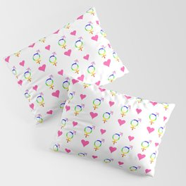 heart and transgender 2 Pillow Sham