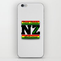 new zealand iPhone & iPod Skins featuring New Zealand  by mailboxdisco