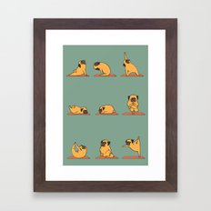 Pug Yoga Framed Art Print