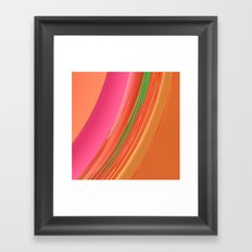 Peach Apricot Mango Bold Stripes Framed Art Print
