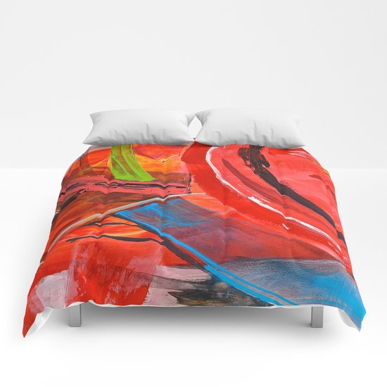 IBIZA - colorful abstract painting Comforters