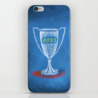 boss iPhone & iPod Skins featuring boss by Miranda J. Friedman