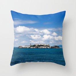 Alcatraz, San Francisco Throw Pillow