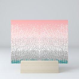 Colorful Branching Coral Mini Art Print