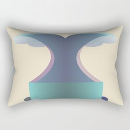I wave letter Rectangular Pillow