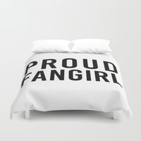 fangirl Duvet Covers featuring FANGIRL by The Fandom Designs