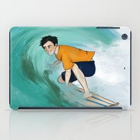 percy jackson iPad Cases featuring Percy Surfing by limevines