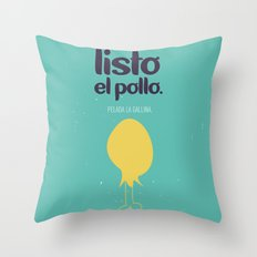 Listo el pollo! Throw Pillow