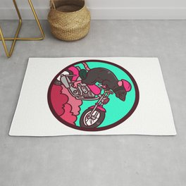motorcycle, motorcycle driving Rug