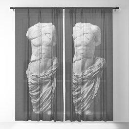 Greek God  Sheer Curtain