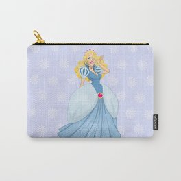 Princess Cinderella In Blue Dress Carry-All Pouch