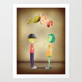 Dim Love Art Print