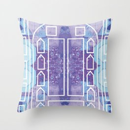 Arabian Nights Magic Door Throw Pillow
