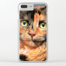 Colorful Kitty Clear iPhone Case