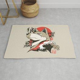 Wolf Japanese Art Rug