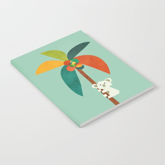 Koala on Coconut Tree Notebook