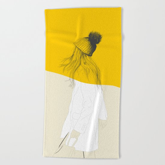 Woman Color 7 Beach Towel