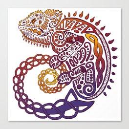 Celtic Chameleon Canvas Print