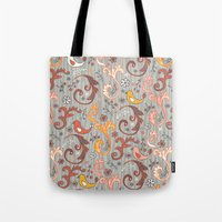 grim fandango Tote Bags featuring Fandango by Heather Dutton