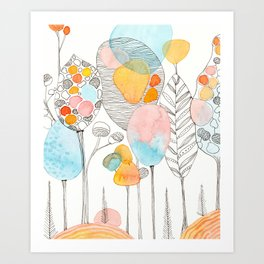 Abstract forest II Art Print