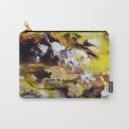 Unicorn in the magic forest, acrylic on canvas, abstract Carry-All Pouch