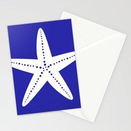 Starfish (White & Navy Blue) Stationery Cards
