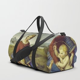 Madonna of the Meadows by Raphael Duffle Bag