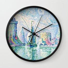 """Paul Signac """"Les Tours Vertes, La Rochelle"""" Wall Clock"""
