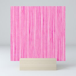 Luscious Lollypop Pink Striped Candy Design Mini Art Print