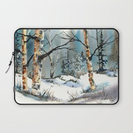 Winter Fields, from my watercolor painting Laptop Sleeve
