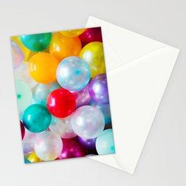 Rainbow Birthday Balloons Stationery Cards