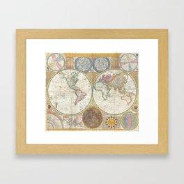 Terroqueous Globe Framed Art Print