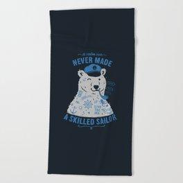 Sailor Tattooed Bear Beach Towel