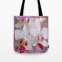calendar 2015 Tote Bags featuring Calendar 2015 Orchids by Lena Photo Art