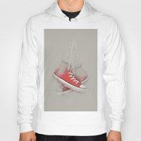 sneakers Hoodies featuring red sneakers by ivaDima