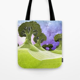Broccoli Planet Tote Bag