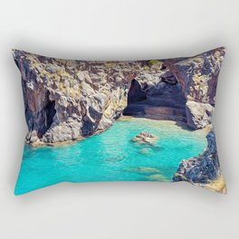 Seacoast near the Arco Magno in San Nicola d'Arcella, Calabria Italy Rectangular Pillow