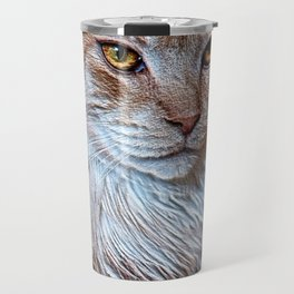 Nugget the golden main-coone-cat Travel Mug