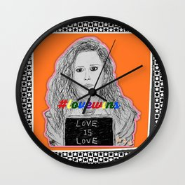 (Oitnb Nicky - Love Is Love) - yks by ofs珊 Wall Clock