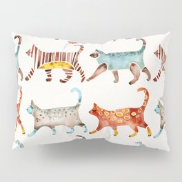Cat Collection: Watercolor Pillow Sham
