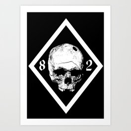 82 War Black Art Print